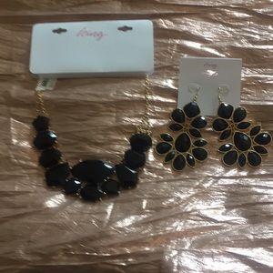 Black onyx jewelry set.